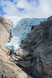 De gletsjer van Briksdal, Noorwegen Royalty-vrije Stock Foto