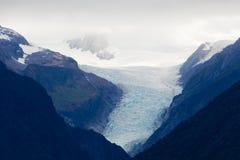 De Gletsjer van de vos, het Eiland van het Zuiden, Nieuw Zeeland Stock Fotografie