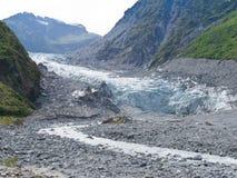 De Gletsjer van de vos, het Eiland van het Zuiden, Nieuw Zeeland Stock Afbeelding