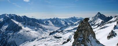 De gletsjer van Hintertux royalty-vrije stock fotografie