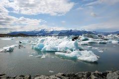 De gletsjer van Jökulsárlón en de lagune IJsland van de Gletsjer royalty-vrije stock afbeelding