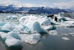 De gletsjer van Jökulsà ¡ rlà ³ n en de lagune IJsland van de Gletsjer Stock Foto's