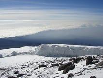De Gletsjer van Kibo stock afbeelding