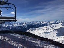 De Gletsjer van La Plagne Royalty-vrije Stock Foto