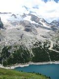 De gletsjer van Marmolada Stock Foto