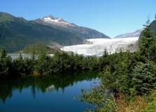 De Gletsjer van Mendenhall Stock Afbeeldingen