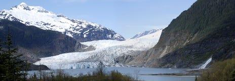 De Gletsjer van Mendenhall Stock Foto