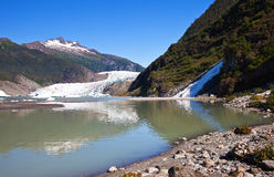 De Gletsjer van Mendenhall in Alaska stock afbeeldingen