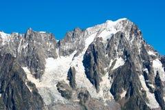 De gletsjer van Mont Blanc Royalty-vrije Stock Foto