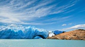 De gletsjer van Moreno van Perito, Patagonië, Argentinië. Royalty-vrije Stock Foto's
