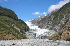 De gletsjer van Nieuw Zeeland stock afbeelding