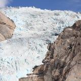 De gletsjer van Noorwegen stock fotografie
