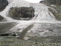 De gletsjer van Sulzenauferner in de stubaialpen Stock Fotografie