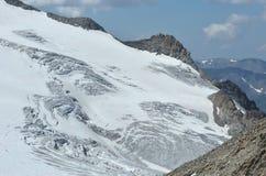 De Gletsjer van Trient Stock Afbeelding