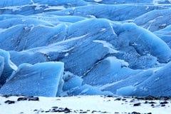 De gletsjer van Vatnajokull, IJsland royalty-vrije stock afbeeldingen