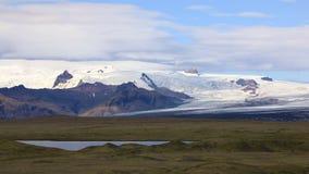 De gletsjer van Vatnajokull, IJsland stock video