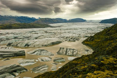 De gletsjer van Vatnajokull, IJsland Royalty-vrije Stock Foto's