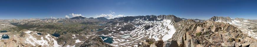 De gletsjer verdeelt Bergpanorama Stock Foto