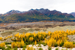 De Gletsjer Wrangell St Elias Mountains Autumn Co van het Kennicottsediment royalty-vrije stock foto's