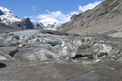 De Gletsjergletsjer Pasterze van bergen Oostenrijkse Alpen Stock Fotografie