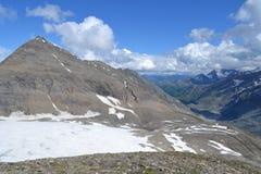 De Gletsjergletsjer Pasterze van bergen Oostenrijkse Alpen Royalty-vrije Stock Fotografie