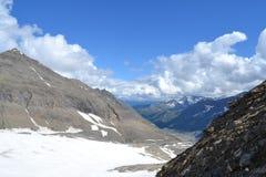 De Gletsjergletsjer Pasterze van bergen Oostenrijkse Alpen Royalty-vrije Stock Foto's