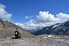 De Gletsjergletsjer Pasterze van bergen Oostenrijkse Alpen Stock Afbeelding
