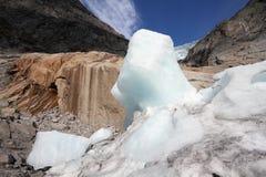 De gletsjerlandschap van Noorwegen stock foto