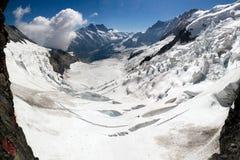 De gletsjerpanorama van Eiger Stock Fotografie