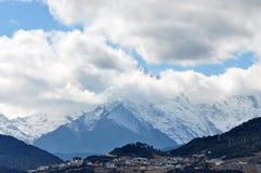 De Gletsjers van de Bergmingyong van de Meilisneeuw Royalty-vrije Stock Fotografie