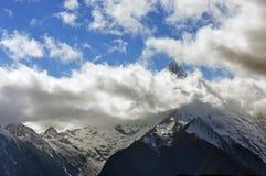 De Gletsjers van de Bergmingyong van de Meilisneeuw Stock Afbeelding