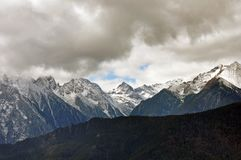 De Gletsjers van de Bergmingyong van de Meilisneeuw Royalty-vrije Stock Afbeeldingen