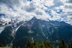De Gletsjers van Mont Blanc Stock Foto