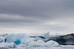 De gletsjersmeltingen van IJsland Stock Afbeeldingen