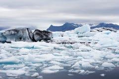 De gletsjersmeltingen van IJsland Stock Foto
