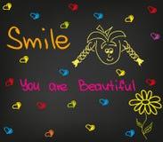 De glimlach u is mooi Stock Foto's