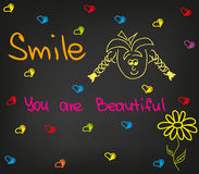 De glimlach u is mooi vector illustratie