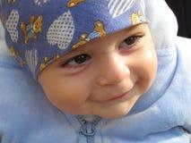 De glimlach van de baby Stock Foto