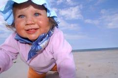 De glimlach van de baby Royalty-vrije Stock Afbeeldingen