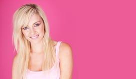 De glimlach van de blonde Royalty-vrije Stock Afbeeldingen