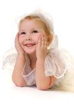 De glimlach van de engel stock foto's