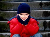De glimlach van de jongen Stock Foto's