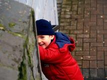 De glimlach van de jongen Stock Foto