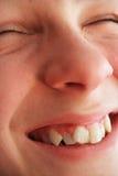 De glimlach van de jongen Stock Fotografie