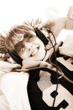 De glimlach van de muziek royalty-vrije stock afbeeldingen