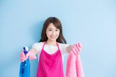De glimlach van de schoonheidshuisvrouw aan u Stock Fotografie