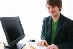 De glimlach van de typist Royalty-vrije Stock Foto's