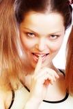 De glimlach van de vrouw. Stock Fotografie