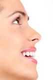De glimlach van de vrouw Stock Foto