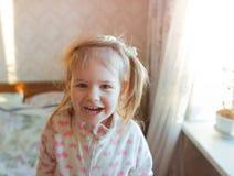 De glimlach van het babymeisje Royalty-vrije Stock Afbeelding